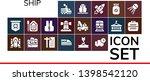 ship icon set. 19 filled ship...   Shutterstock .eps vector #1398542120
