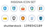 insignia icon set. 10 flat... | Shutterstock .eps vector #1398542189
