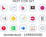 next icon set. 15 flat next...   Shutterstock .eps vector #1398542330