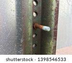 backside of street sign bolt...   Shutterstock . vector #1398546533