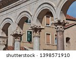 cathedral in split city on the... | Shutterstock . vector #1398571910