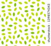 green leaves seamless pattern.... | Shutterstock .eps vector #1398574343