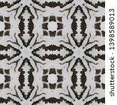 tibetan fabric. black  white ... | Shutterstock . vector #1398589013