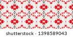 tibetan fabric. repeat tie dye... | Shutterstock . vector #1398589043