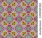 tibetan fabric. abstract... | Shutterstock . vector #1398589283