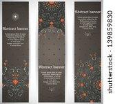 set of three vertical banners.... | Shutterstock .eps vector #139859830