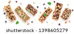 Stock photo granola bars assortment isolated on white background banner homemade healthy snack granola 1398605279