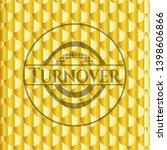 turnover shiny golden badge....