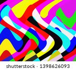 colorful vivid waves shapes ... | Shutterstock . vector #1398626093