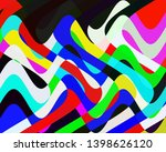 colorful vivid waves shapes ... | Shutterstock . vector #1398626120