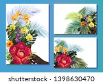 templates with tropical plants  ...   Shutterstock .eps vector #1398630470