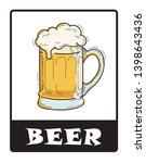 beer shop sign drawing by... | Shutterstock .eps vector #1398643436