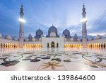 sheikh zayed grand mosque at... | Shutterstock . vector #139864600
