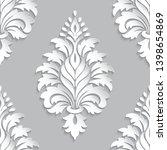 vector damask seamless pattern... | Shutterstock .eps vector #1398654869