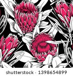 floral seamless pattern. pink... | Shutterstock .eps vector #1398654899