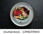 herring tartar in a plate....