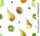 pattern of fruit painted with... | Shutterstock . vector #1398660329