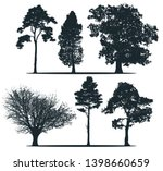 tree silhouettes   sweden pine  ... | Shutterstock . vector #1398660659