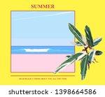 minimal beach landscape and...   Shutterstock .eps vector #1398664586