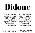 classic vector bold serif... | Shutterstock .eps vector #1398665273