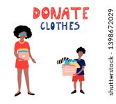clothes donation. hand drawn ... | Shutterstock .eps vector #1398672029