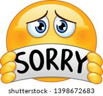 sad and apologizing emoticon... | Shutterstock .eps vector #1398672683
