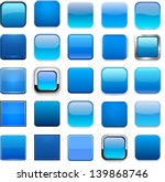 set of blank blue square... | Shutterstock .eps vector #139868746