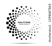 halftone circle dotted frame...   Shutterstock . vector #1398687863