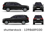 realistic suv car. front view ... | Shutterstock .eps vector #1398689330