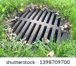 sewer grate cover manhole...   Shutterstock . vector #1398709700