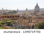 top view on old city center...   Shutterstock . vector #1398719750