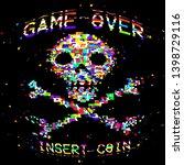 vector retro arcade style game... | Shutterstock .eps vector #1398729116