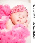 sleeping  newborn baby  at the... | Shutterstock . vector #139874728