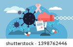 oncology vector illustration.... | Shutterstock .eps vector #1398762446