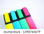 colorful plain high lighter in... | Shutterstock . vector #1398763679