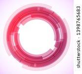 geometric frame from circles ... | Shutterstock .eps vector #1398765683