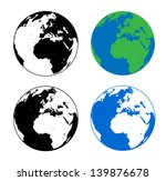 earth silhouette vector...