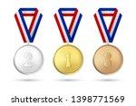vector 3d realistic gold ... | Shutterstock .eps vector #1398771569
