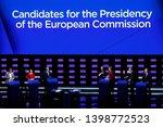 brussels  belgium. 15th may... | Shutterstock . vector #1398772523