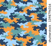 camouflage pattern background... | Shutterstock .eps vector #1398796316