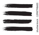 brush stroke set isolated on... | Shutterstock .eps vector #1398798683