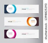 vector abstract banner design...   Shutterstock .eps vector #1398825293