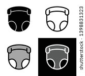 baby nappy pants icon vector | Shutterstock .eps vector #1398831323