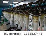 rubber gloves production line ...   Shutterstock . vector #1398837443