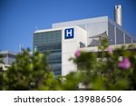 modern hospital and sign with... | Shutterstock . vector #139886506