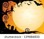 halloween background   gnarled...   Shutterstock .eps vector #139886833
