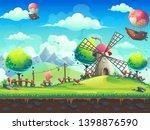 vector seamless illustration... | Shutterstock .eps vector #1398876590