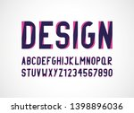 two styles modern  font and... | Shutterstock . vector #1398896036
