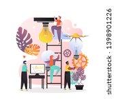 vector illustration of tiny... | Shutterstock .eps vector #1398901226