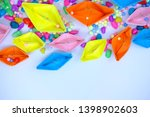 colorful paper boat wallpaper... | Shutterstock . vector #1398902603